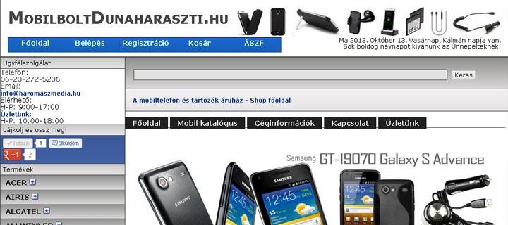 MobilboltDunaharaszti.hu