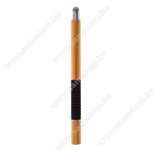 SAMSUNG Galaxy Tab (P1000)2 in 1 érintőképernyő ceruza - kapacitív kijelzőhöz, érintőpárnával és érintőtányérral is, KÉZÍRÁSRA, RAJZOLÁSRA ALKALMAS - ARANY