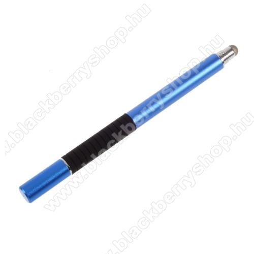 BLACKBERRY 9550 Storm 22 in 1 érintőképernyő ceruza - kapacitív kijelzőhöz, érintőpárnával és érintőtányérral is, KÉZÍRÁSRA, RAJZOLÁSRA ALKALMAS - SÖTÉTKÉK