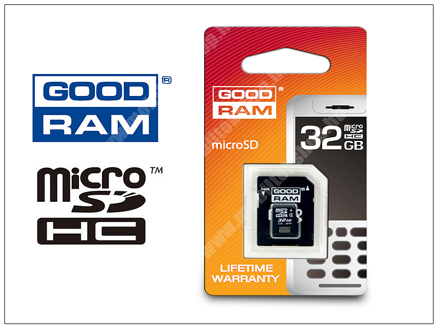 32 GB microSDHC™ Class 4 memóriakártya + SD adapter