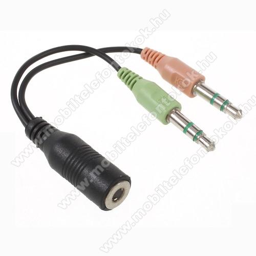 3.5mm Jack adapter / mikrofon adapter - FEKETE