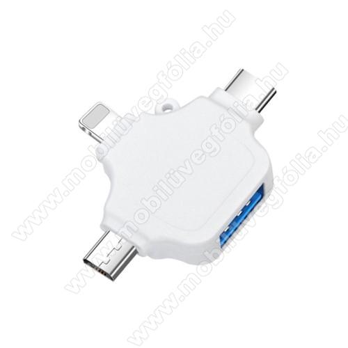 DJI Mavic Pro3 az 1-ben OTG adapter - Type-C,Lighting, microUSB, USB3.0 csatlakozó, OTG funkció - FEHÉR