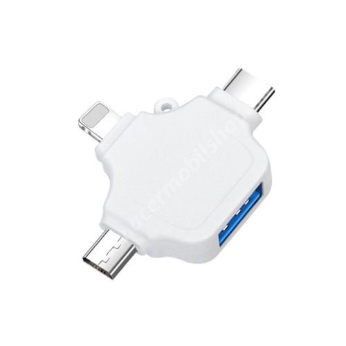 ACER Liquid Z3 3 az 1-ben OTG adapter - Type-C,Lighting, microUSB, USB3.0 csatlakozó, OTG funkció - FEHÉR