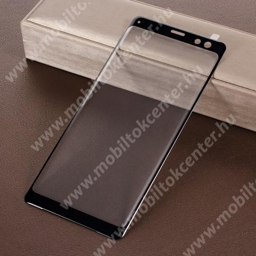 3D Curved előlapvédő karcálló edzett üveg - 9H, A TELJES ELŐLAPOT VÉDI! - FEKETE - Sony Xperia XZ3