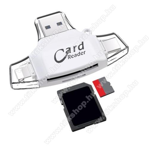 DJI Mavic Pro Platinum4 az 1-ben memóriakártya olvasó - Type-C, Lighting, microUSB, USB csatlakozó, OTG funkció - FEHÉR