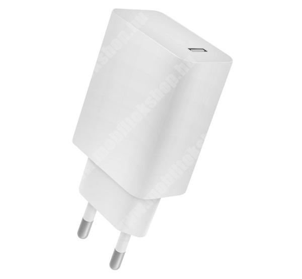 LG G4c (H525N) 4-OK hálózati töltő 1 x Type-C aljzat - 5V / 2400mA, 18W, PD gyorstöltés támogatás, kábel nélkül! - FEHÉR - CVPD18 - GYÁRI