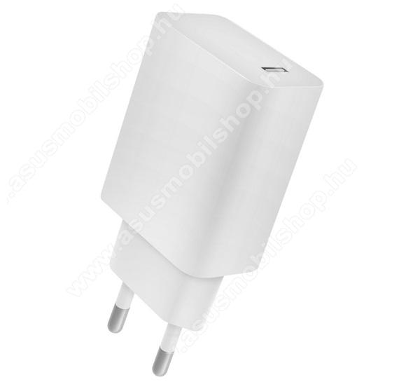 ASUS Memo Pad 7 ME572C4-OK hálózati töltő 1 x Type-C aljzat - 5V / 2400mA, 18W, PD gyorstöltés támogatás, kábel nélkül! - FEHÉR - CVPD18 - GYÁRI