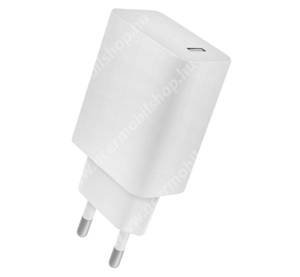ACER Iconia Tab 8 A1-840FHD 4-OK hálózati töltő 1 x Type-C aljzat - 5V / 2400mA, 18W, PD gyorstöltés támogatás, kábel nélkül! - FEHÉR - CVPD18 - GYÁRI