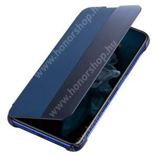 HUAWEI Honor 20 Pro Ablakos notesz tok / flip tok - oldalra nyíló - 51993277 - SÖTÉTKÉK - HUAWEI Honor 20 Pro - GYÁRI