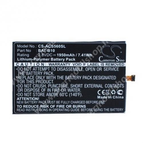 ACER Liquid Jade (S55) akkumulátor - 1950mAh Li-ION - (KT.0010S.013 utángyártott)