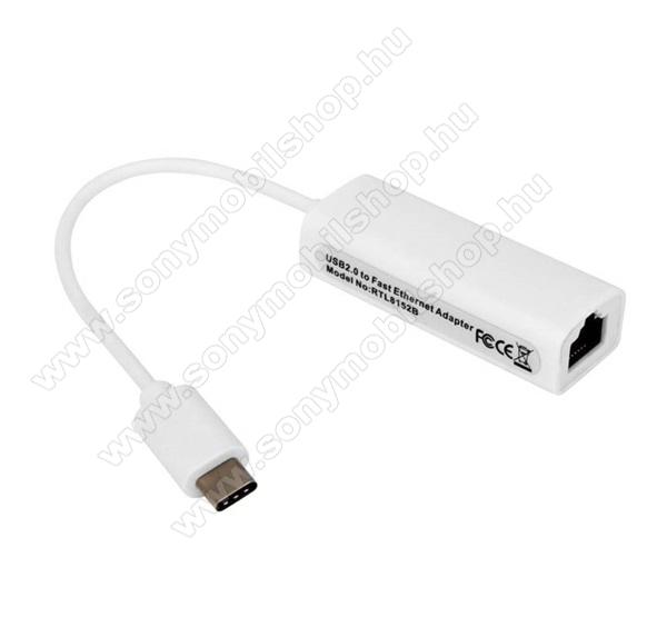 Adapter kábel (Ethernet - Type-C csatlakozó, RJ45, LAN adapter) - FEHÉR
