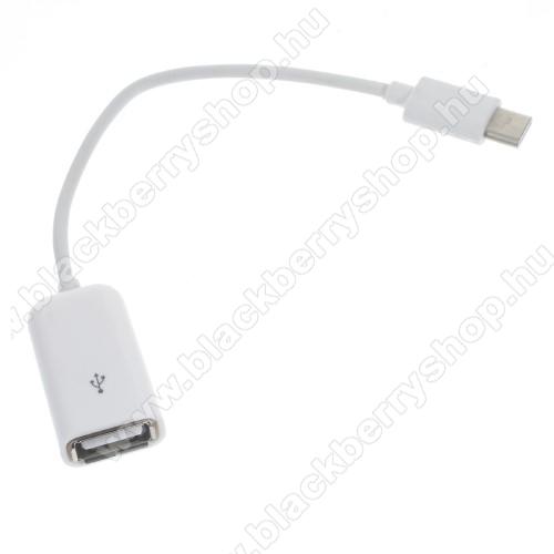 BLACKBERRY DTEK60Adapter kábel, USB/pendrive csatlakoztatásához - OTG / USB 3.1 Type C - FEHÉR