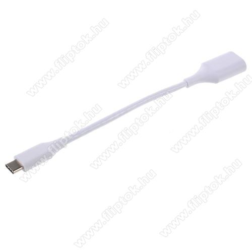ZTE S30Adapter kábel, USB/pendrive csatlakoztatásához - OTG / USB 3.1 Type C - FEHÉR