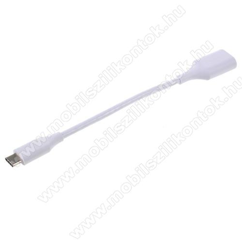 Adapter kábel, USB/pendrive csatlakoztatásához - OTG / USB 3.1 Type C - FEHÉR