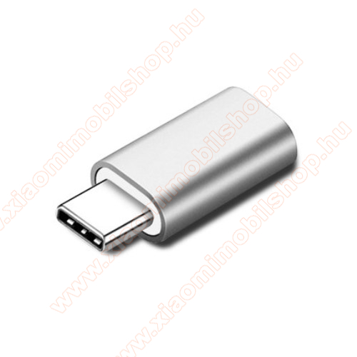 Xiaomi Mi True Wireless Earphones LiteAdapter Lightning-ot USB 3.1 Type C-re alakítja át - Adatátvitelre és töltésre képes, zenehallgatásra nem! - EZÜST