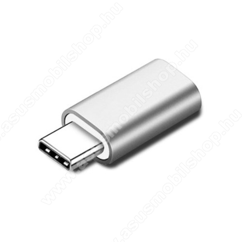 Adapter Lightning-ot USB 3.1 Type C-re alakítja át - Adatátvitelre és töltésre képes, zenehallgatásra nem! - EZÜST