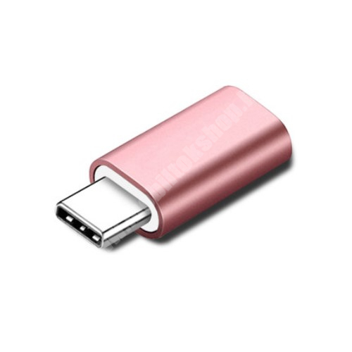 ALCATEL Flash (2017) Adapter Lightning-ot USB 3.1 Type C-re alakítja át - Adatátvitelre és töltésre képes, zenehallgatásra nem! - ROSE GOLD