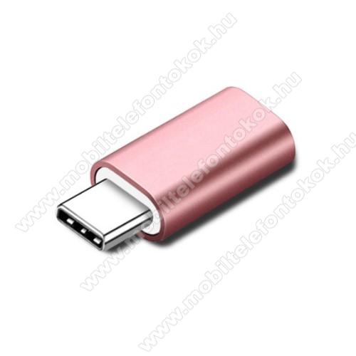 Adapter Lightning-ot USB 3.1 Type C-re alakítja át - Adatátvitelre és töltésre képes, zenehallgatásra nem! - ROSE GOLD