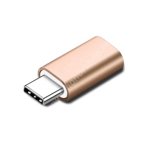 HUAWEI Honor 9 Adapter Lightning-ot USB 3.1 Type C-re alakítja át - Adatátvitelre és töltésre képes, zenehallgatásra nem! - ARANY