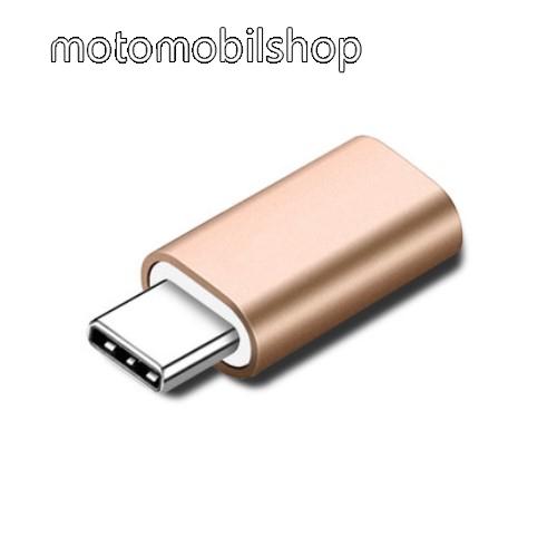 MOTOROLA Moto G9 Plus Adapter Lightning-ot USB 3.1 Type C-re alakítja át - Adatátvitelre és töltésre képes, zenehallgatásra nem! - ARANY