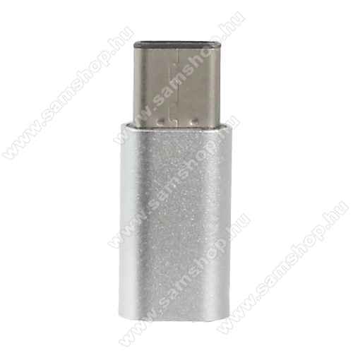 SAMSUNG  Galaxy S Light Luxury (SM-G8750) Adapter microUSB 2.0-át USB 3.1 Type C-re alakítja - Adatátvitelre is képes - EZÜST