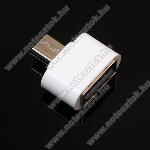 OPPO R17Adapter - USB/pendrive csatlakoztatásához - OTG / microUSB - FEHÉR - SUPERMINI!