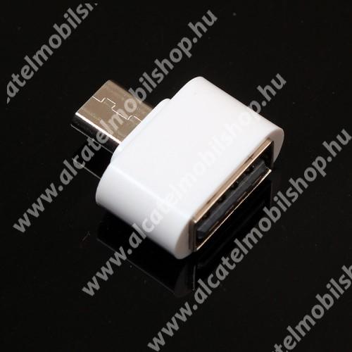 ALCATEL A3 XL Adapter - USB/pendrive csatlakoztatásához - OTG / microUSB - FEHÉR - SUPERMINI!