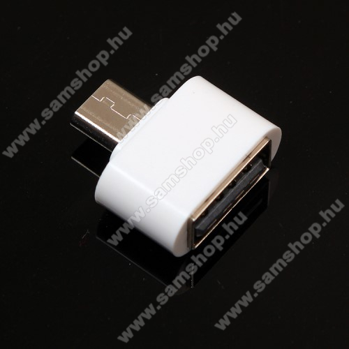 SAMSUNG GT-C3330 Champ 2Adapter - USB/pendrive csatlakoztatásához - OTG / microUSB - FEHÉR - SUPERMINI!