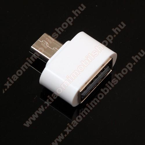 Xiaomi Redmi Note 2Adapter - USB/pendrive csatlakoztatásához - OTG / microUSB - FEHÉR - SUPERMINI!