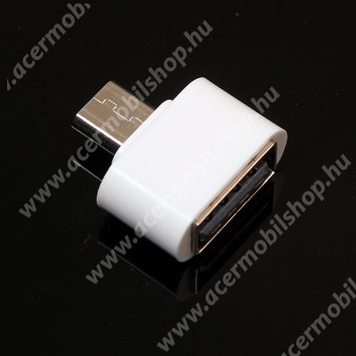 ACER Liquid E700 Trio Adapter - USB/pendrive csatlakoztatásához - OTG / microUSB - FEHÉR - SUPERMINI!