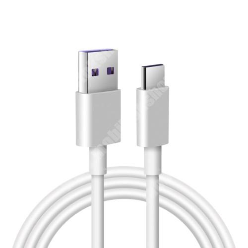 Google Pixel XL Adatatátviteli kábel / USB töltő - USB / USB Type-C, 1m hosszú, 5A (csak a gyári töltővel!) - FEHÉR