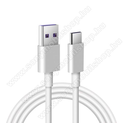 SONY Xperia 5 II (2020) (SO-52A)Adatatátviteli kábel / USB töltő - USB / USB Type-C, 1m hosszú, 5A (csak a gyári töltővel!) - FEHÉR