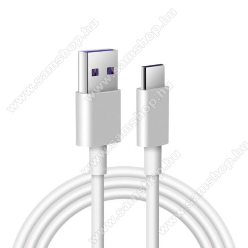 SAMSUNG Galaxy A8 (2018) (SM-A530F/K/L/S/N/W)Adatatátviteli kábel / USB töltő - USB / USB Type-C, 1m hosszú, 5A (csak a gyári töltővel!) - FEHÉR