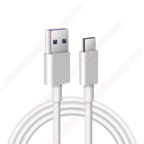 Xiaomi Mi True Wireless Earphones 2 BasicAdatatátviteli kábel / USB töltő - USB / USB Type-C, 1m hosszú, 5A (csak a gyári töltővel!) - FEHÉR