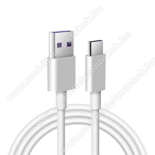 Motorola Moto Z4Adatatátviteli kábel / USB töltő - USB / USB Type-C, 1m hosszú, 5A (csak a gyári töltővel!) - FEHÉR