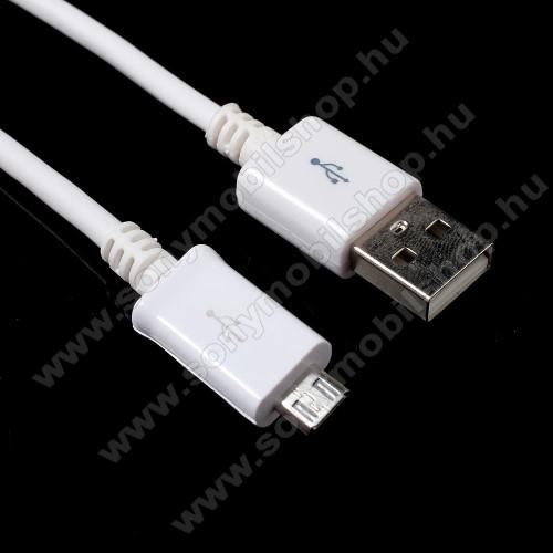 SONY Xperia Acro S (LT26w)Adatátvitel adatkábel - 1m, USB / micro USB - FEHÉR