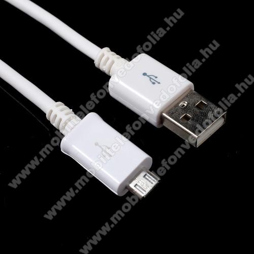 OPPO F7 YouthAdatátvitel adatkábel - 1m, USB / micro USB - FEHÉR