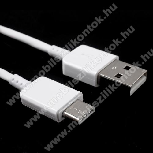 Adatátvitel adatkábel és USB töltő - USB / USB Type-C, 1m, 2A, USB 2.0 - FEHÉR
