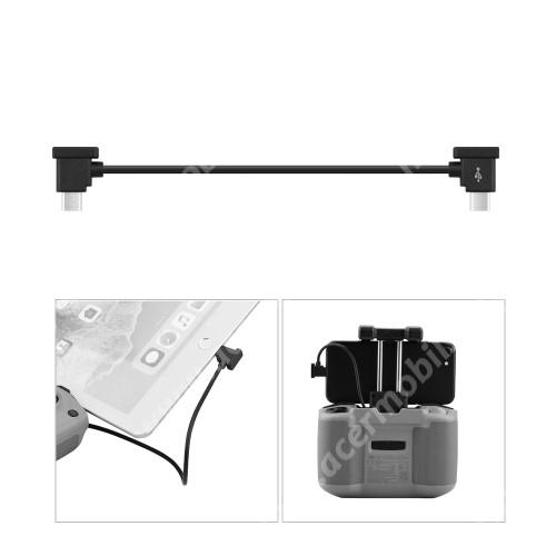 ACER Liquid Z3 Adatátvitel adatkábel / USB töltõ - Type-C / microUSB - 15cm hosszú, derékszögű - FEKETE - DJI MAVIC Air 2 / Mini 2 / Pocket 2 / Pocket Drone készülékekhez