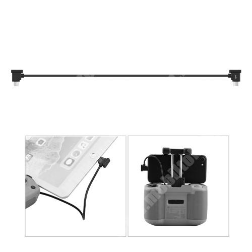 HomTom HT20 Pro Adatátvitel adatkábel / USB töltő - Type-C / microUSB - 30cm hosszú, derékszögű 90°-os - FEKETE