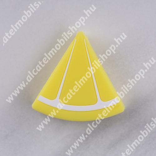 ALCATEL OTE 301 Adatátvitel adatkábel / USB töltő védő szilikon - 1db - CITROM MINTÁS
