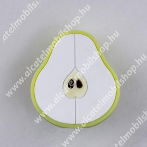 ALCATEL OTE 301 Adatátvitel adatkábel / USB töltő védő szilikon - 1db - KÖRTE MINTÁS