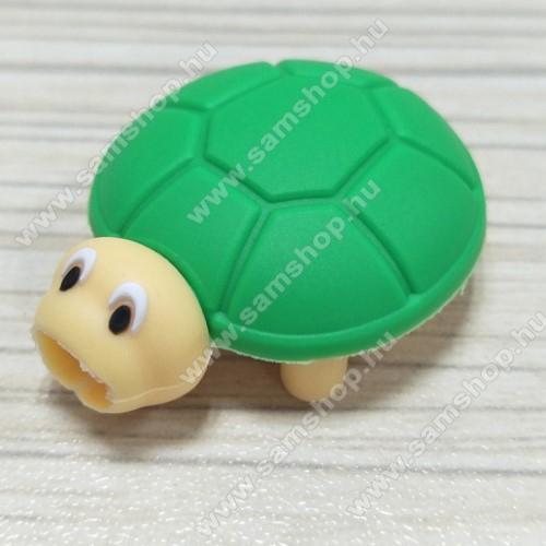 Adatátvitel adatkábel / USB töltő védő szilikon - 1db - TEKNŐS MINTÁS