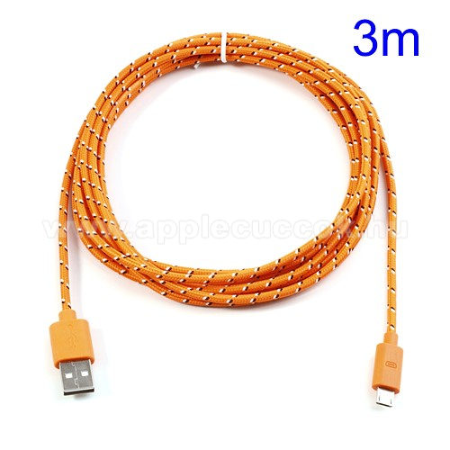 Adat�tviteli k�bel / USB t�lt? - microUSB 2.0, 3m hossz� - NARANCS