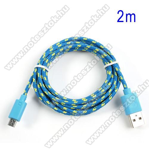 OPPO R17Adatátviteli kábel / USB töltő - microUSB 2.0, 1,5m hosszú, 1A - KÉK