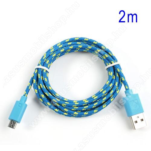 ASUS Zenfone C (ZC451CG)Adatátviteli kábel / USB töltő - microUSB 2.0, 1,5m hosszú, 1A - KÉK
