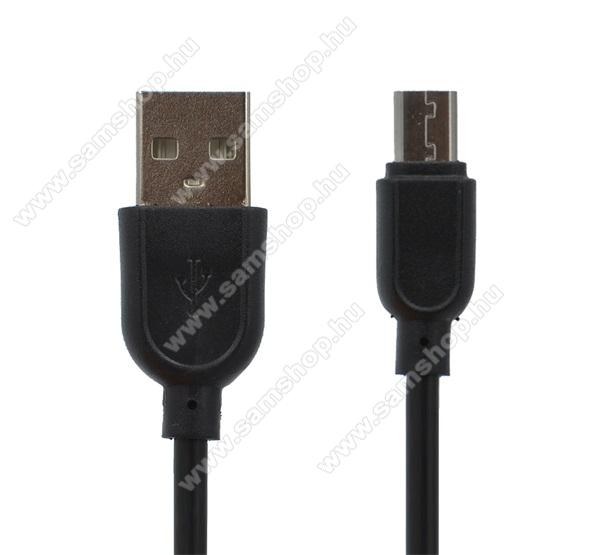 SAMSUNG GT-S5630CAdatátviteli kábel / USB töltő - microUSB speciális, 8 mm hosszított fej, 1m - FEKETE