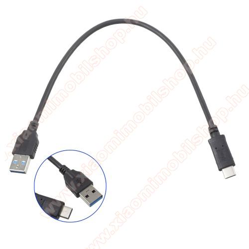 Xiaomi Redmi Note 7Adatátviteli kábel / USB töltő - USB 3.0 Type C - FEKETE - 30cm