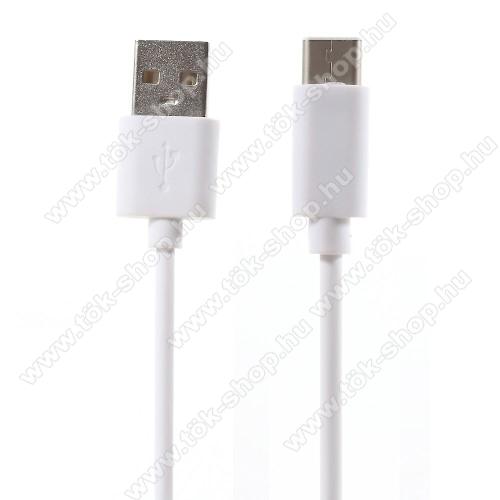 Adatátviteli kábel / USB töltő - USB 3.1 Type C - FEHÉR - 80cm