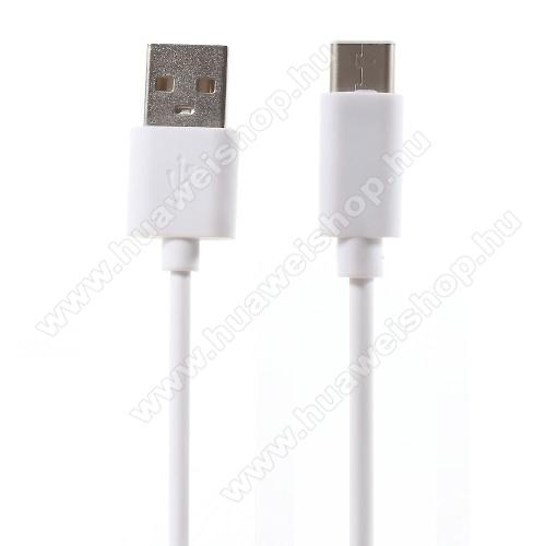 HUAWEI Mate 20 ProAdatátviteli kábel / USB töltő - USB 3.1 Type C - FEHÉR - 80cm
